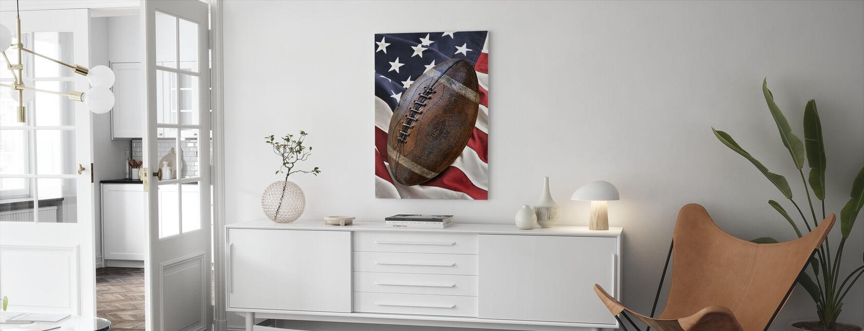 Vintage football - Canvas print - Living Room