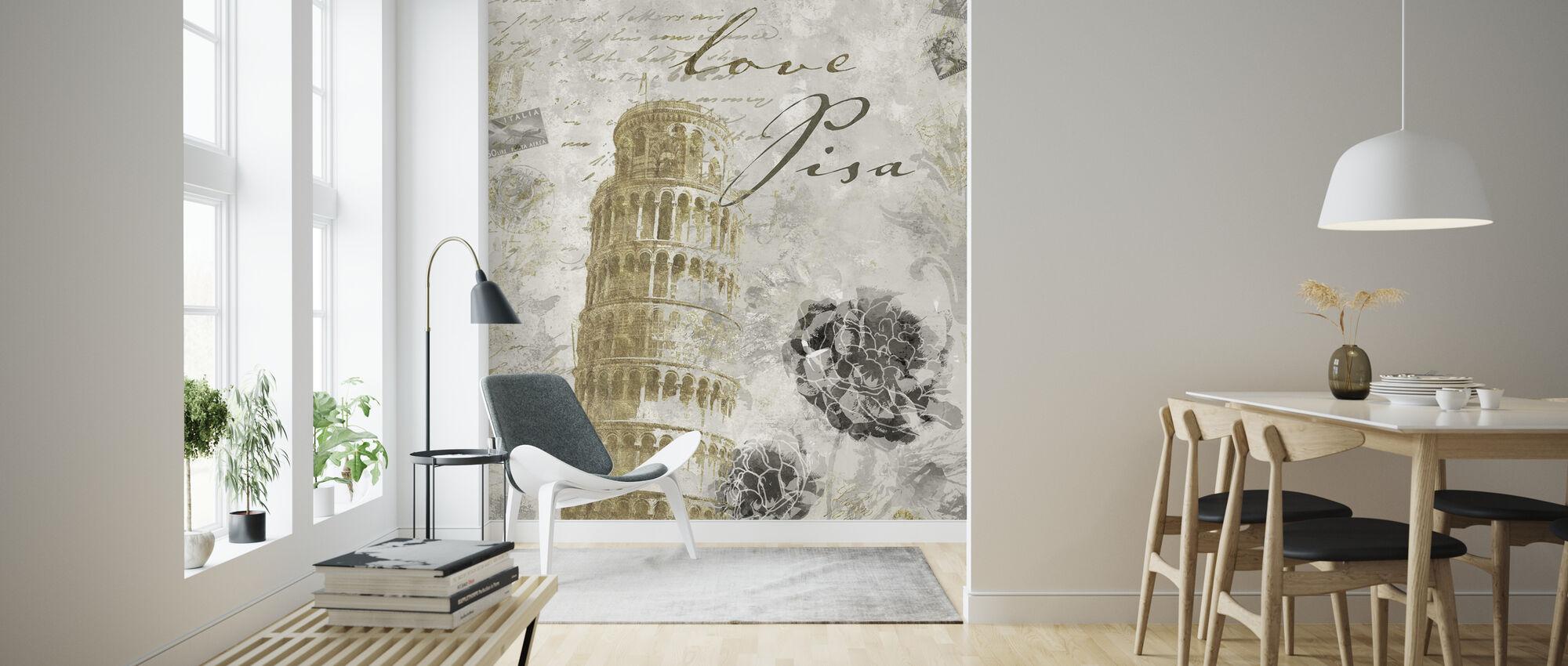 Kjærlighet Pisa - Gull - Tapet - Stue