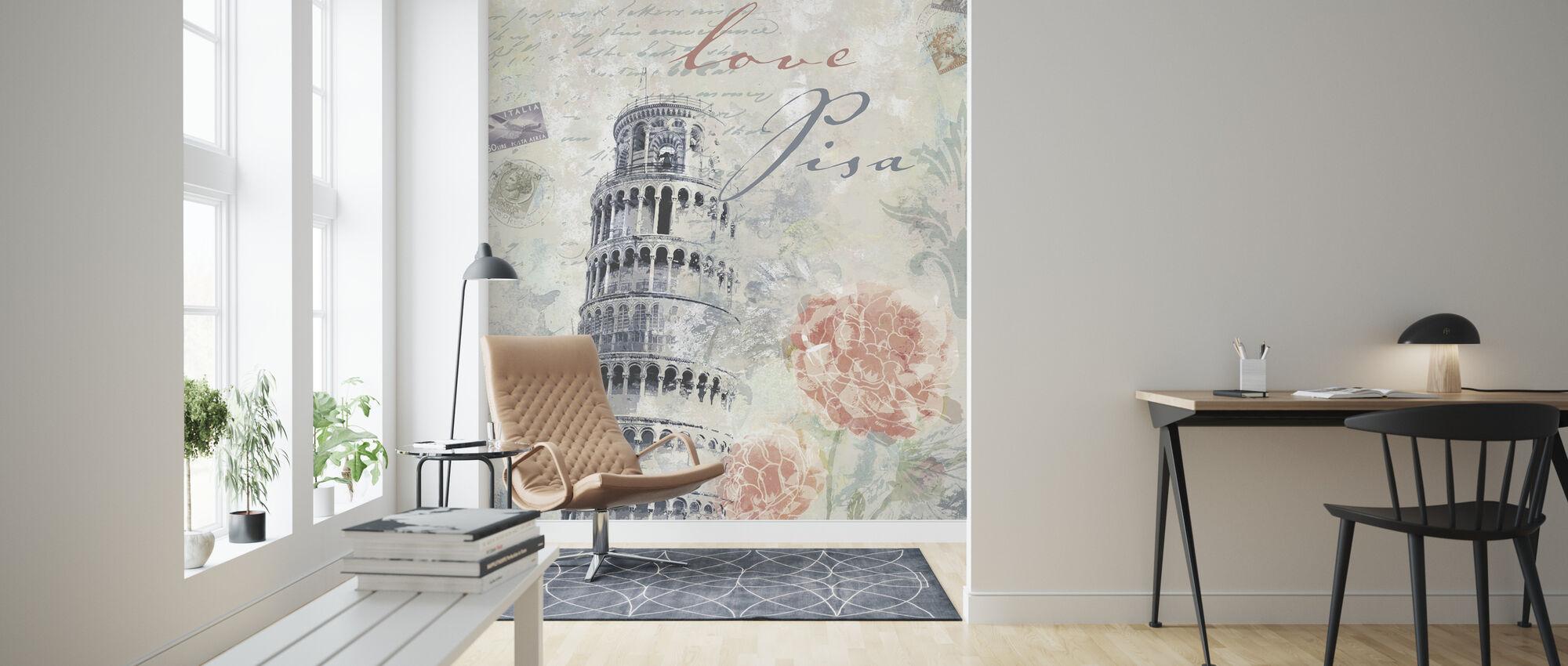 Love Pisa - Wallpaper - Living Room