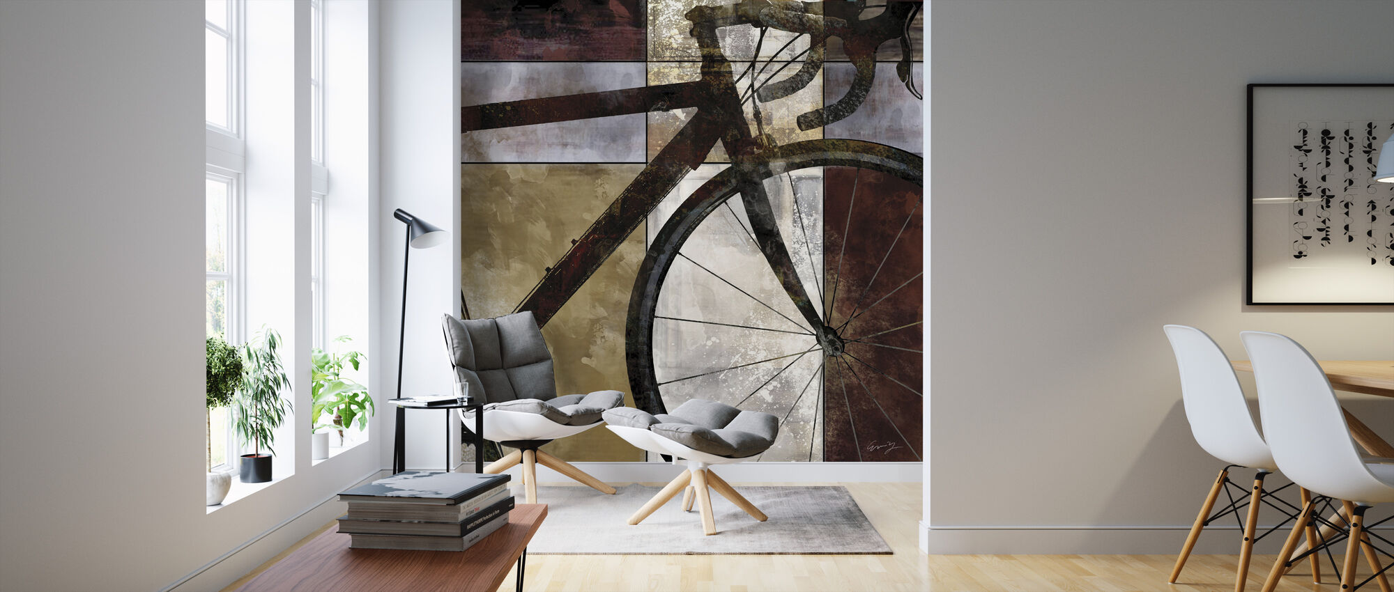 Cykel Konst - Tapet - Vardagsrum