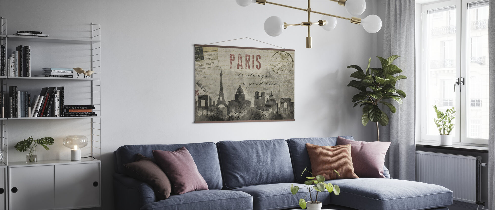Watercolor Paris - Poster - Living Room