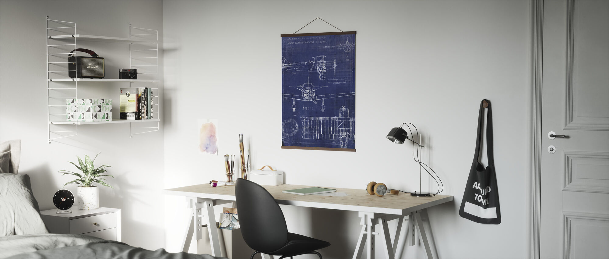 Airplane Blueprint - Poster - Office