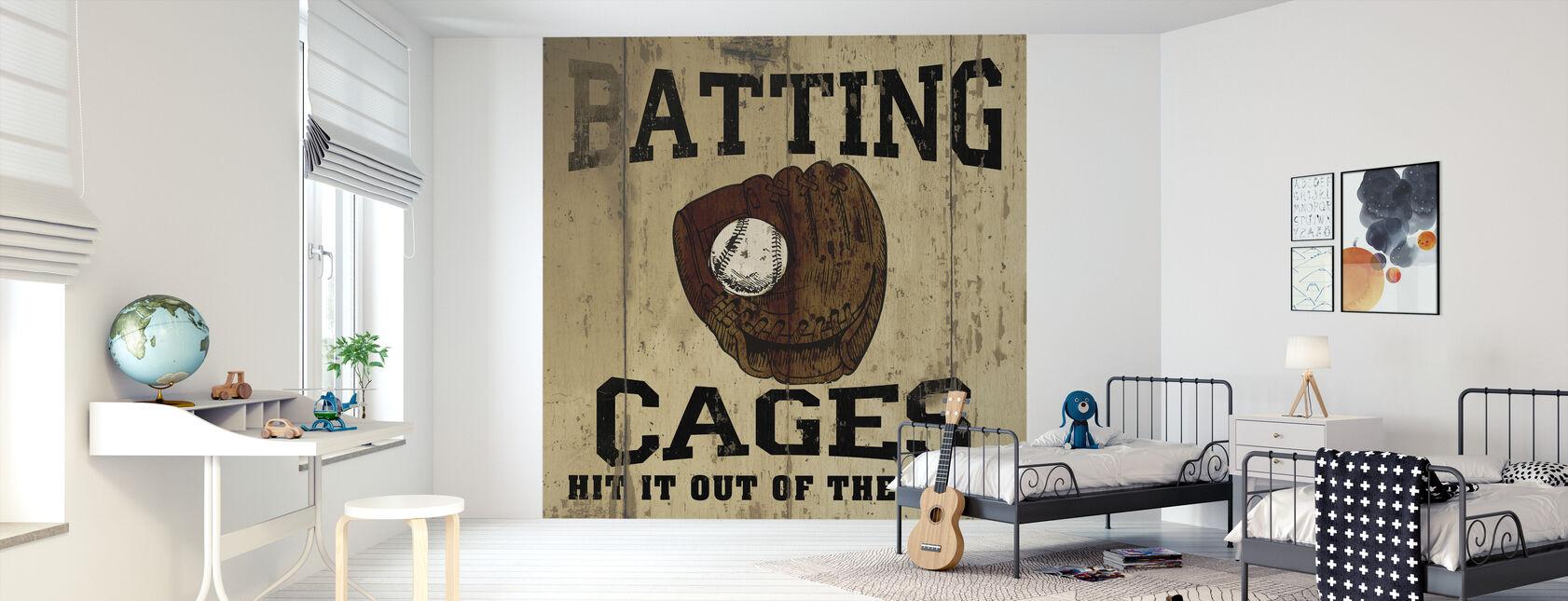 Batting kooien - Behang - Kinderkamer