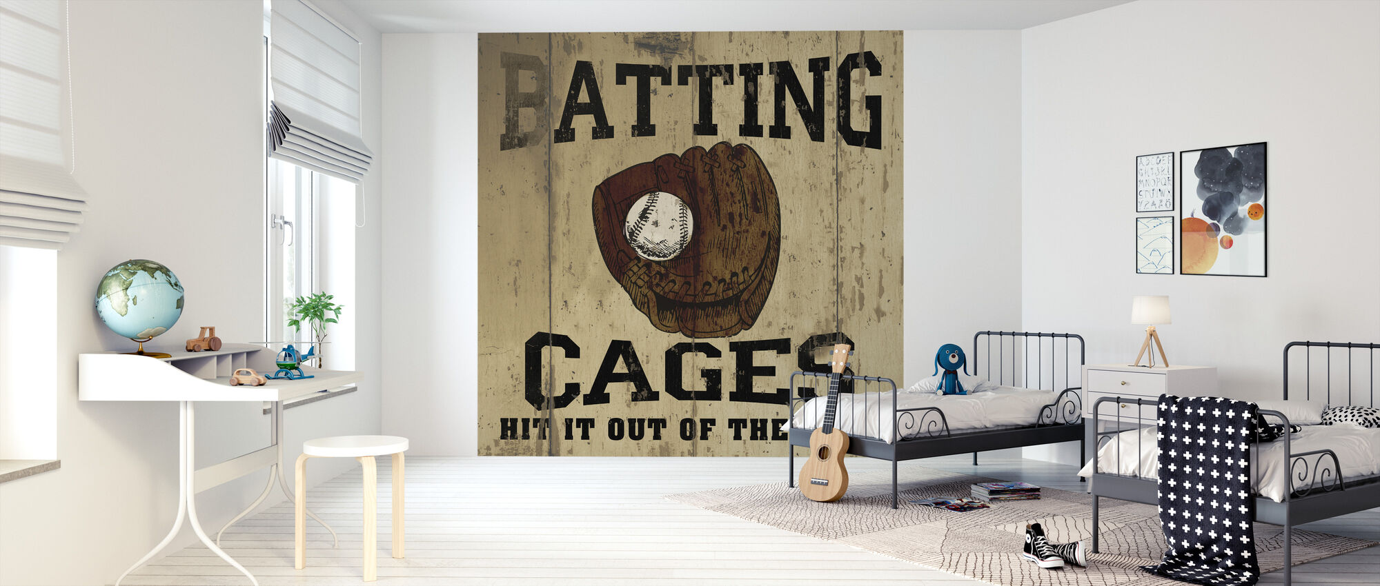 Batting Cages - Wallpaper - Kids Room