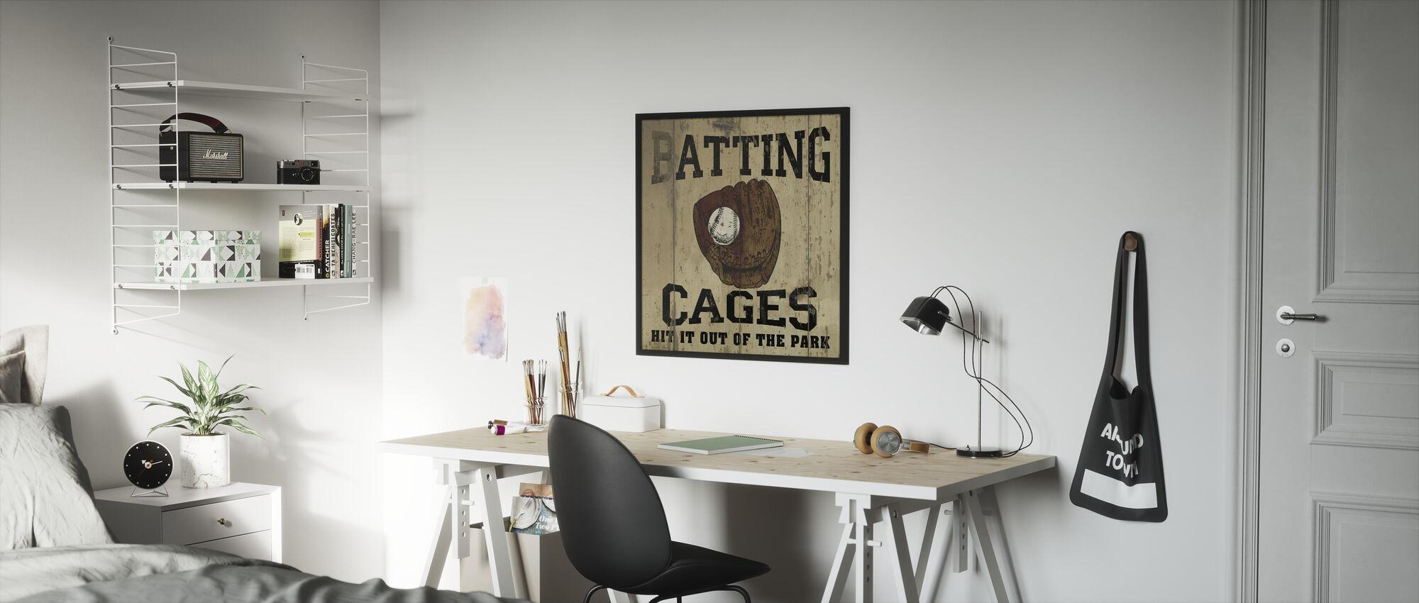 Batting kooien - Ingelijste print - Kinderkamer