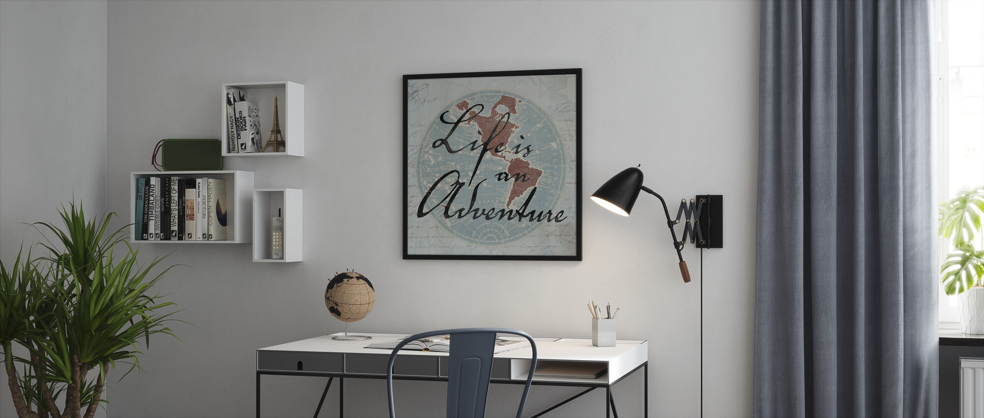 Life is an Adventure - Framed print - Office