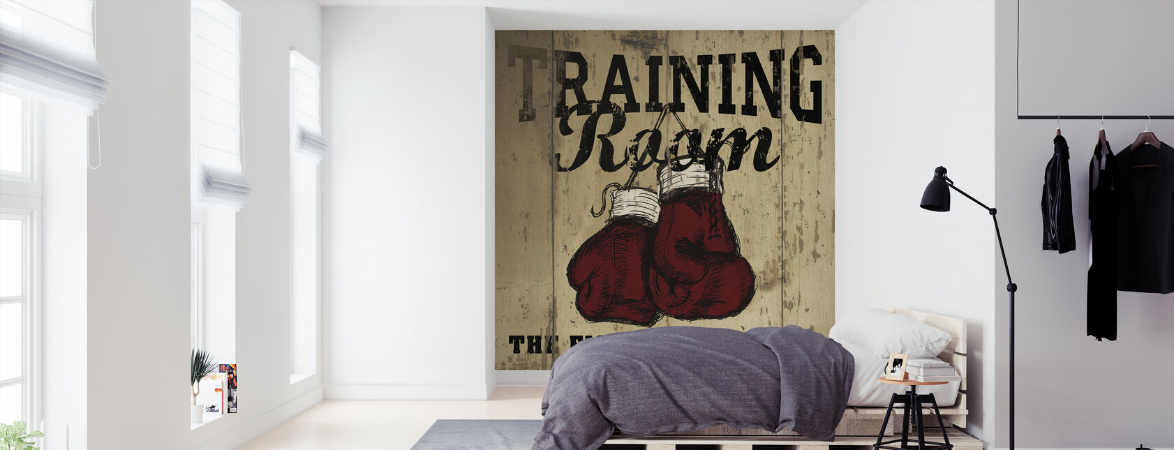 Training Room - Wallpaper - Bedroom