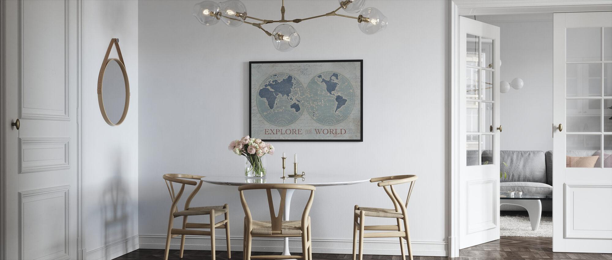 Explore the World 2 - Framed print - Kitchen