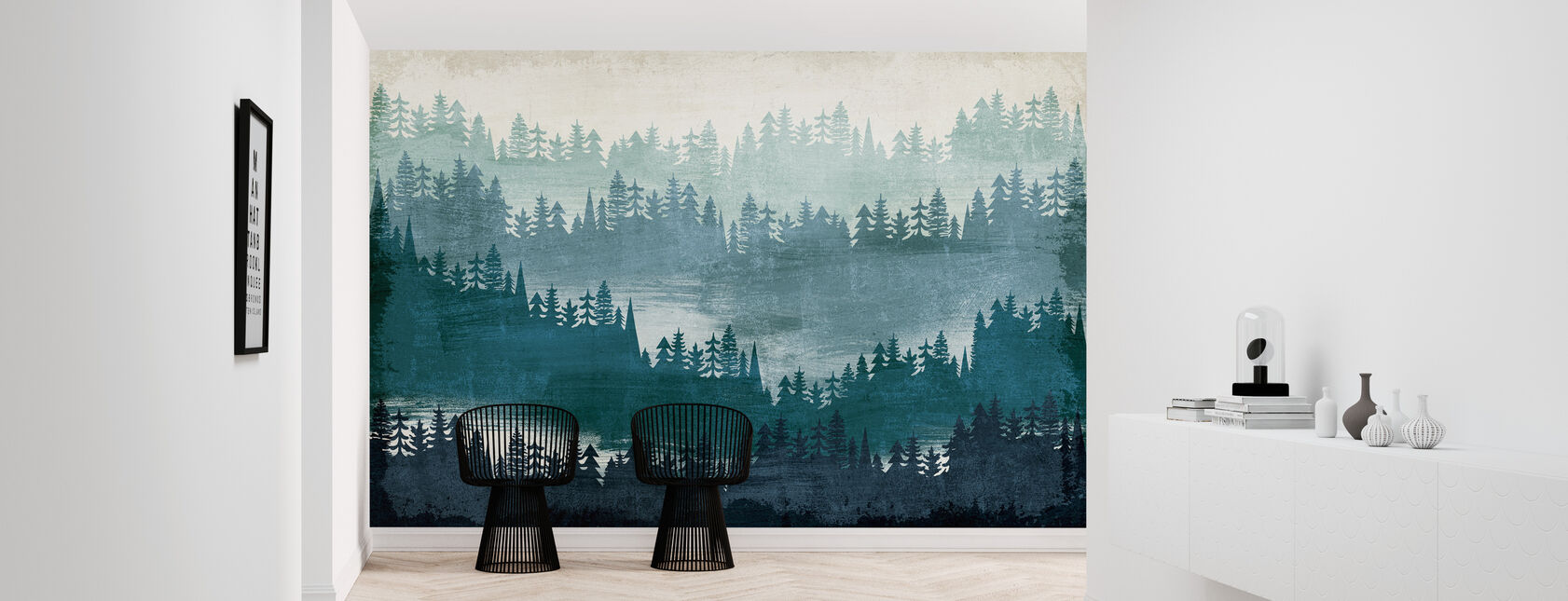 Mountainscape Blue - Wallpaper - Hallway