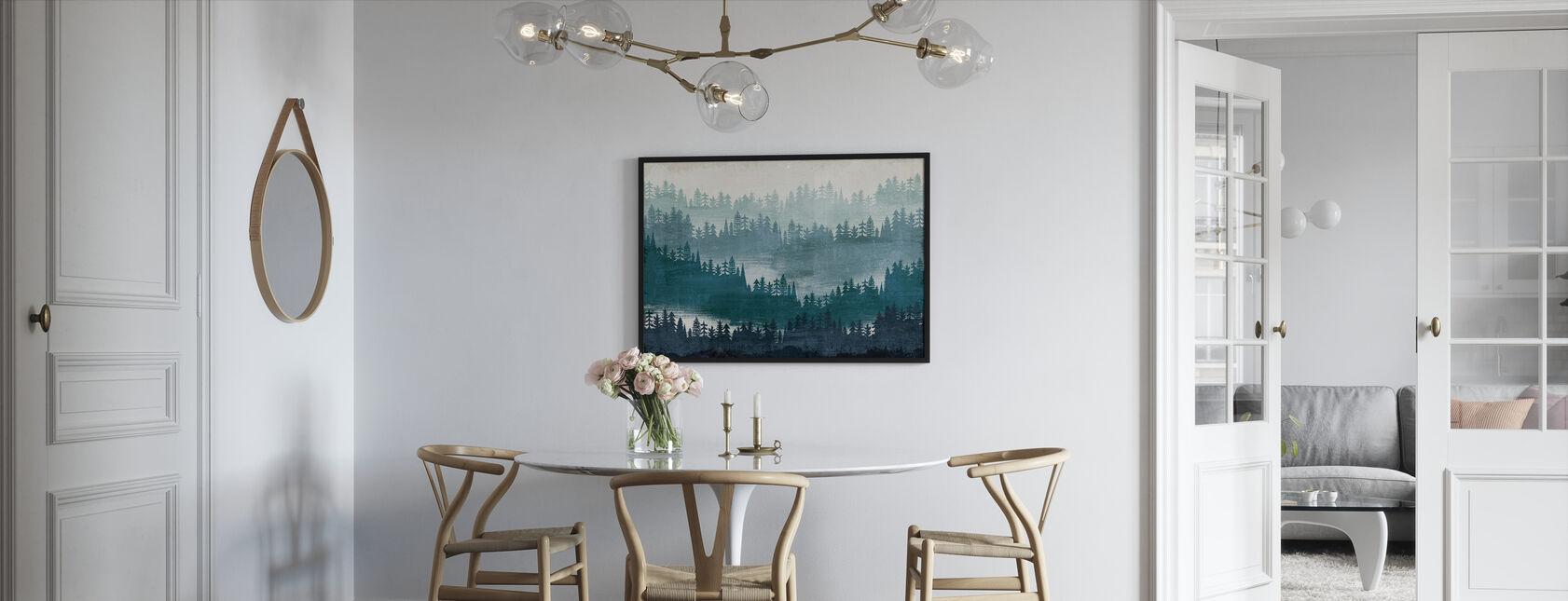 Mountainscape Blue - Framed print - Kitchen