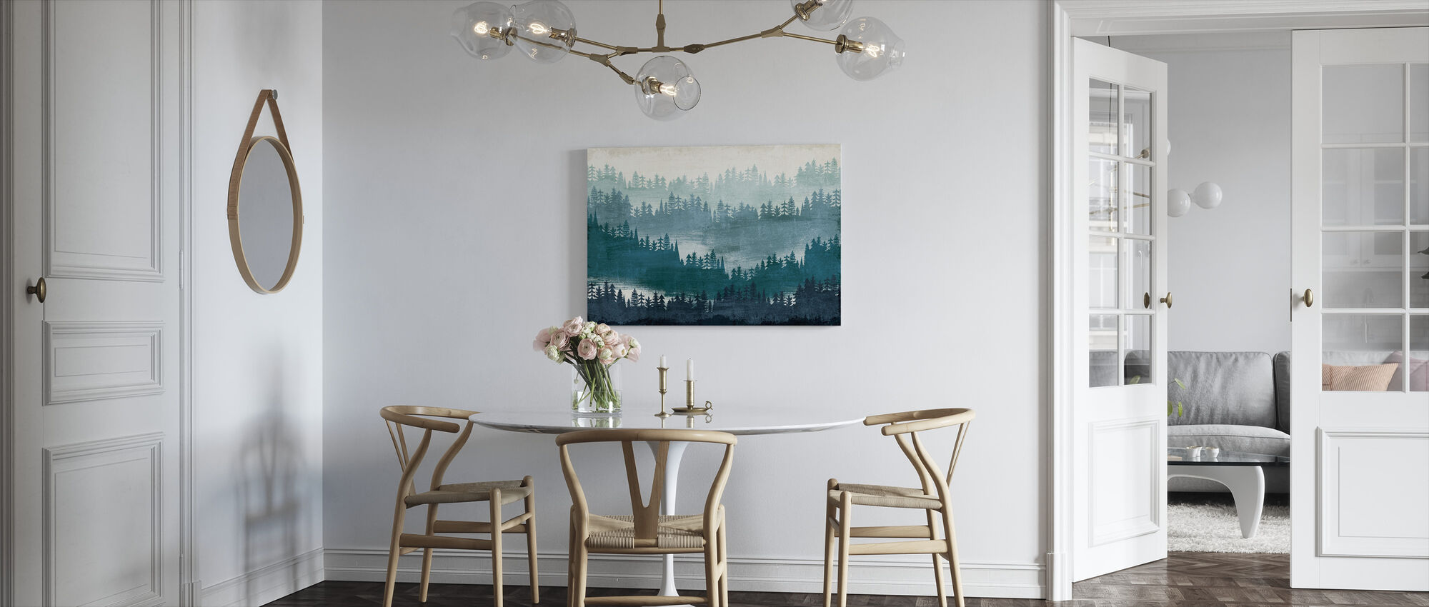 Mountainscape Blue - Canvas print - Kitchen