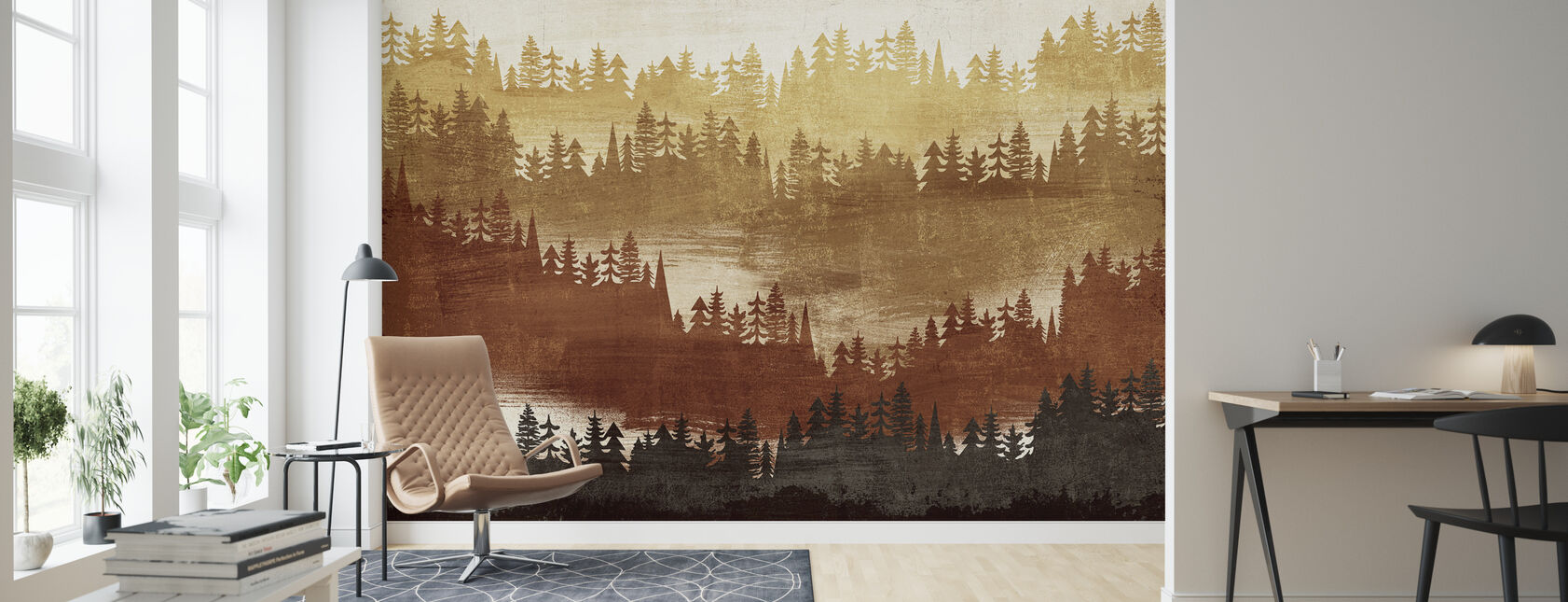 Mountainscape Spice - Wallpaper - Living Room