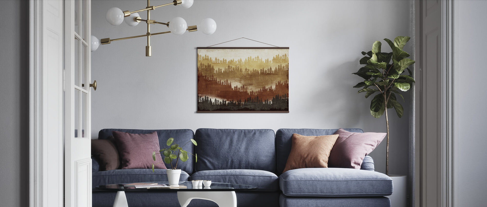 Mountainscape Spice - Poster - Living Room