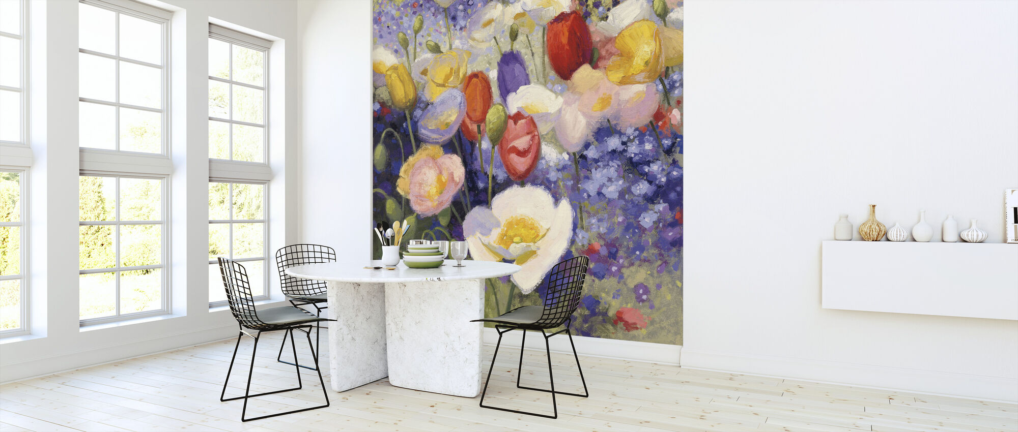 Tulips and Poppy Party - Wallpaper - Kitchen