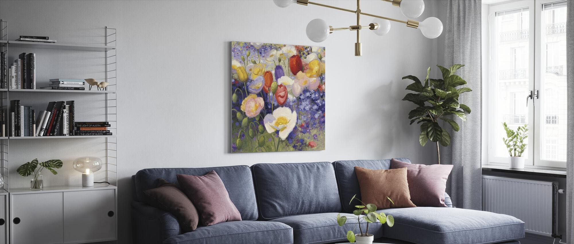 Tulpen en Poppy Party - Canvas print - Woonkamer