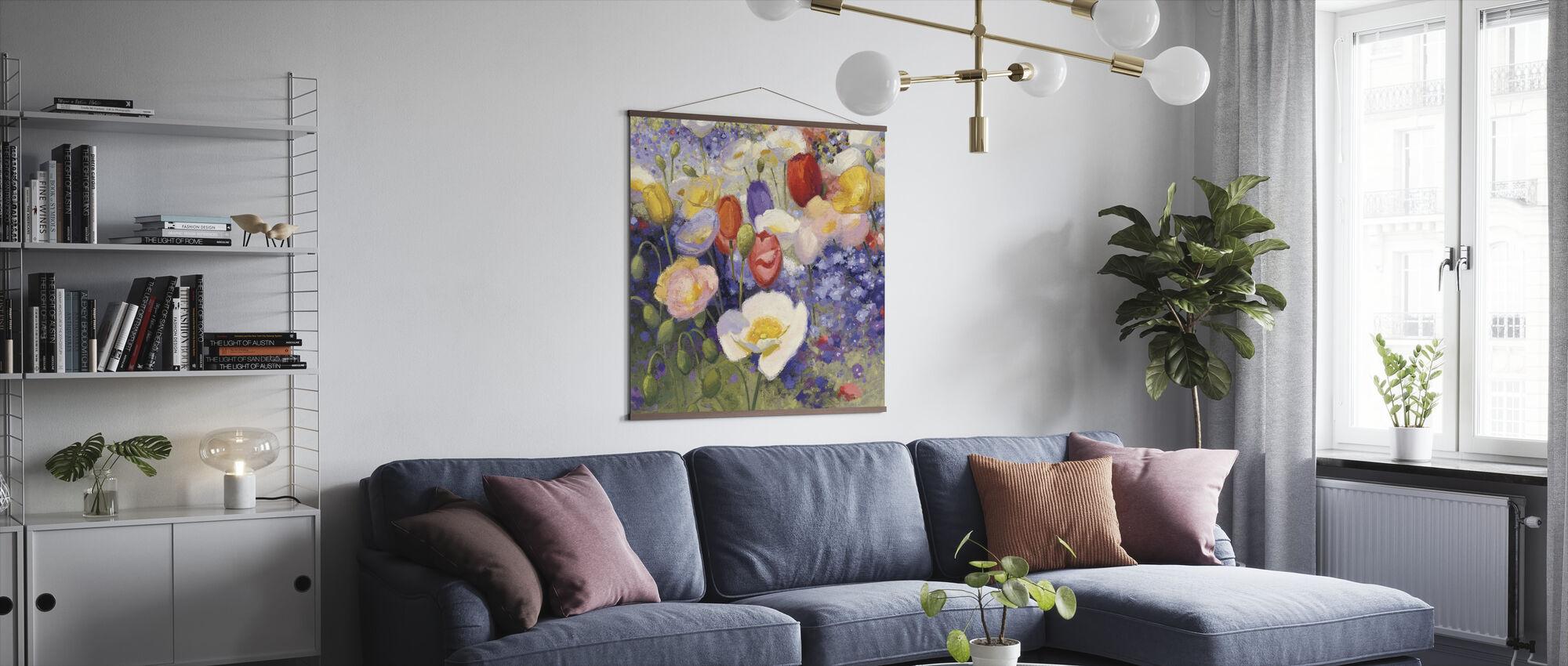 Tulpen en Poppy Party - Poster - Woonkamer