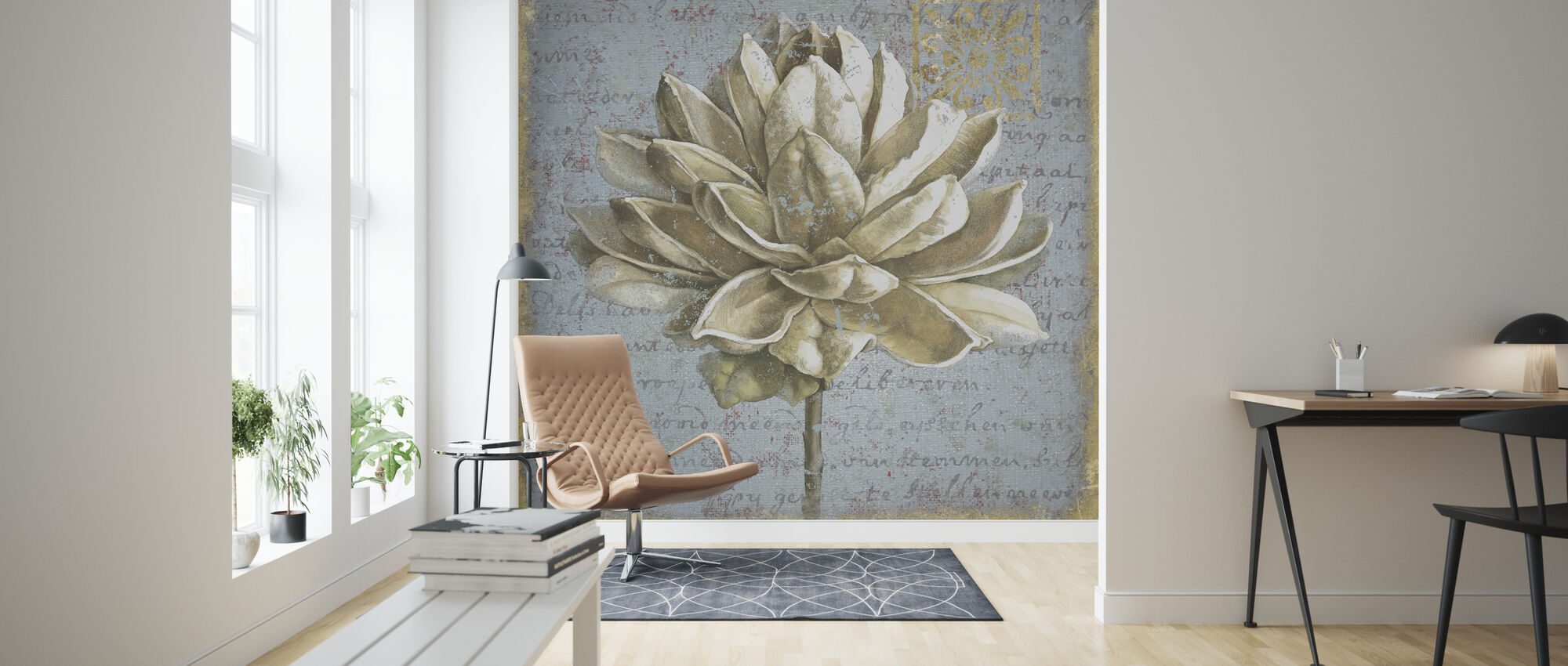 Seed Pod on Text I - Wallpaper - Living Room