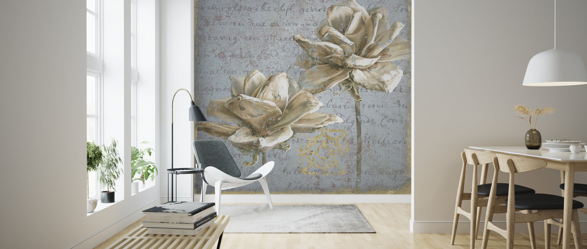 Seed Pod on Text II - Wallpaper - Living Room