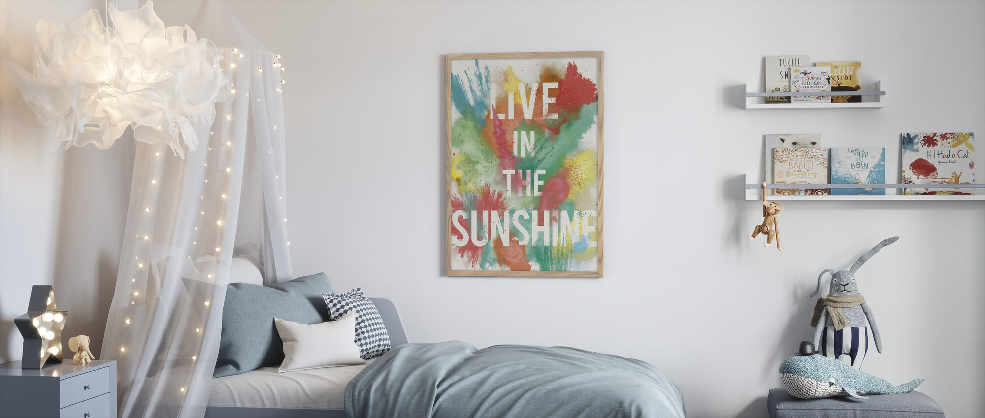 Live in the Sunshine - Framed print - Kids Room