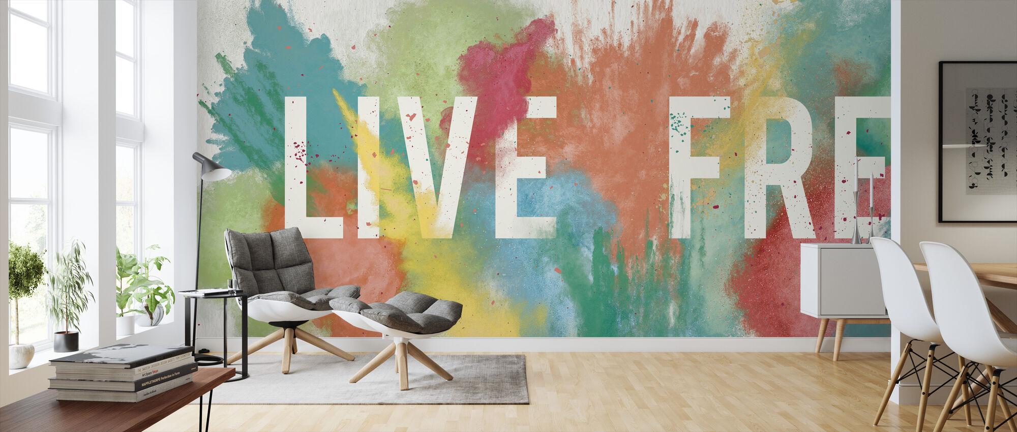 Live Free - Wallpaper - Living Room