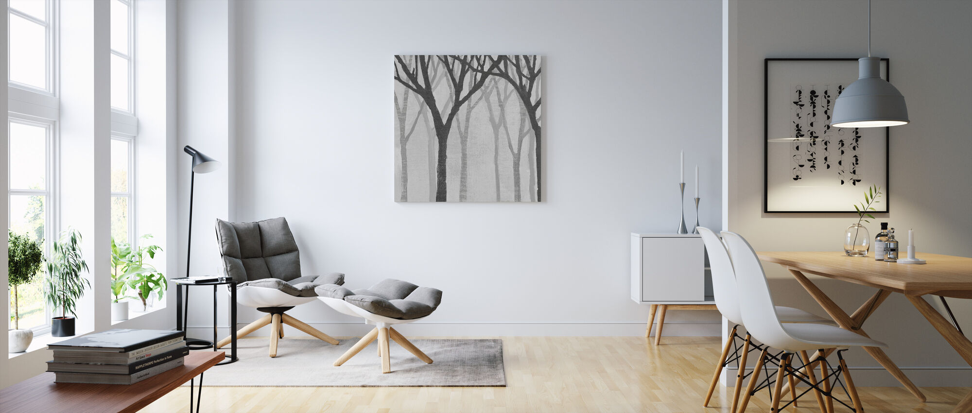 Spring Trees Greystone - Canvas print - Living Room