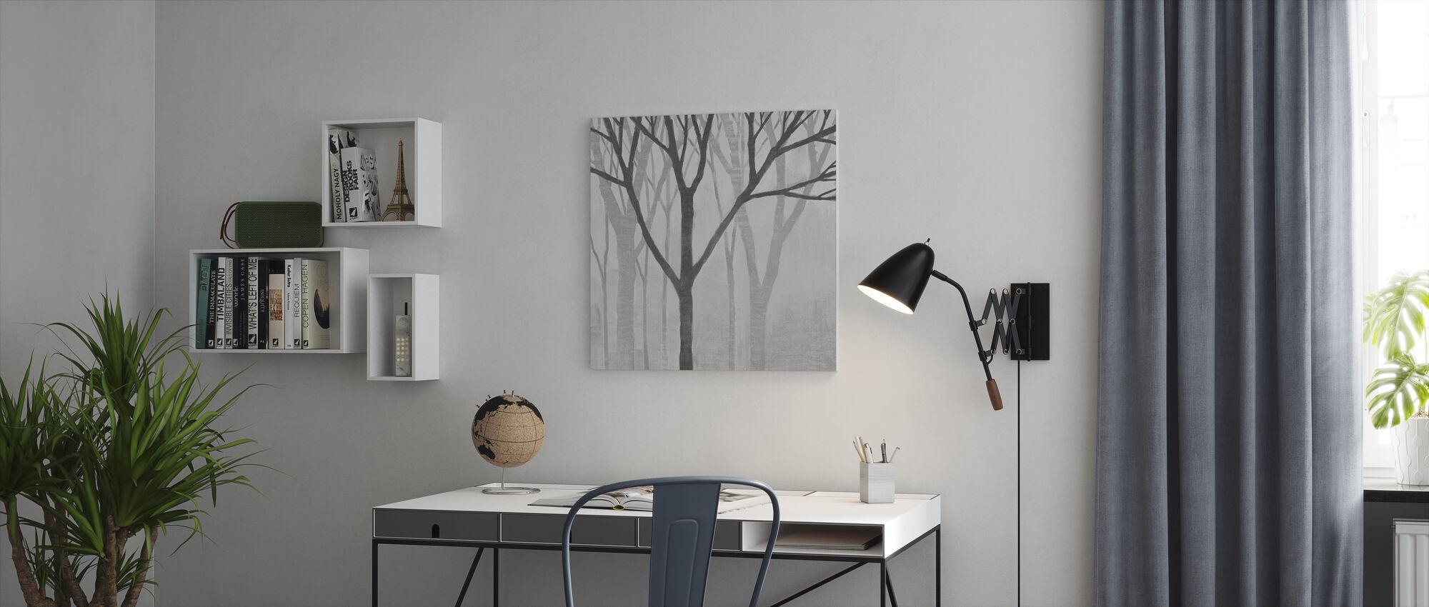 Kevät puut Greystone II - Canvastaulu - Toimisto