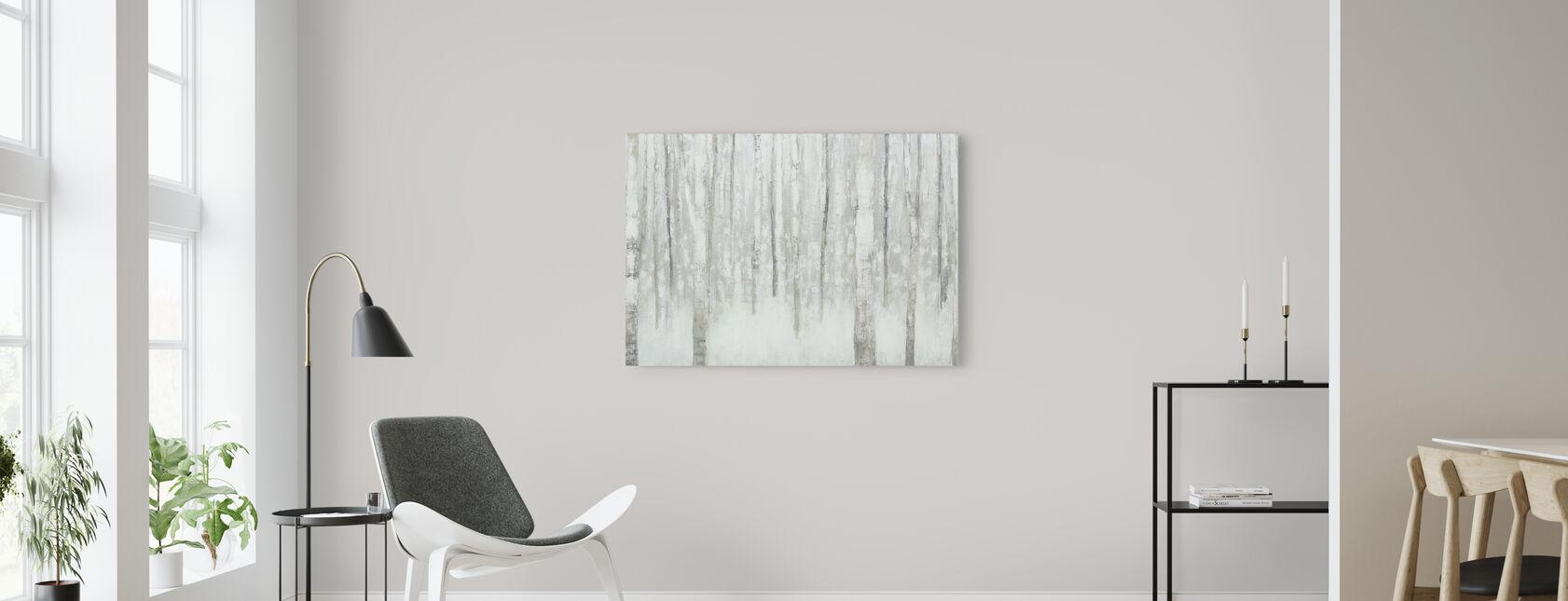 Koivut talvella - Canvastaulu - Olohuone