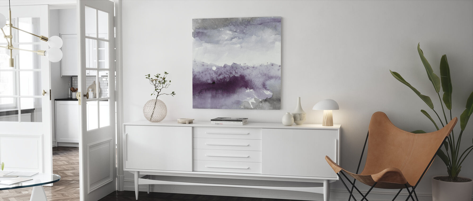 Midnight at the Lake II - Canvas print - Living Room