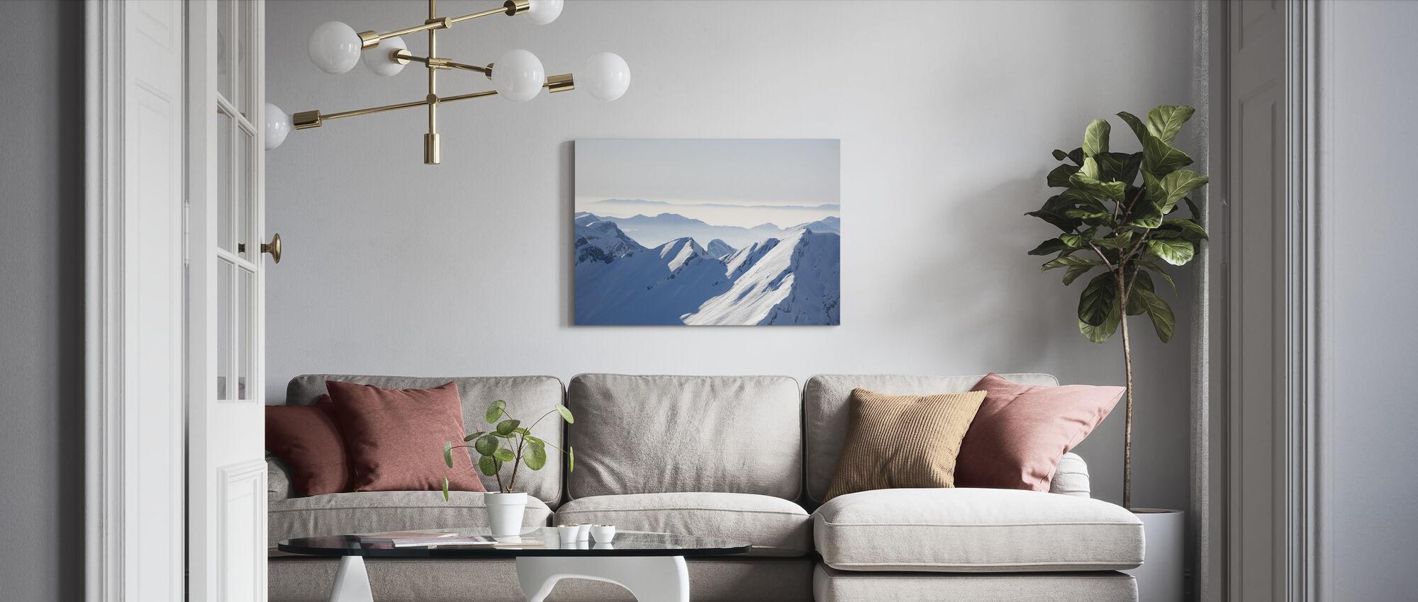 Chamonix Alps I, France - Canvas print - Living Room