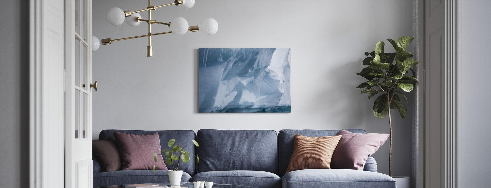 Jääpuikko Etelämantereella - Canvastaulu - Olohuone