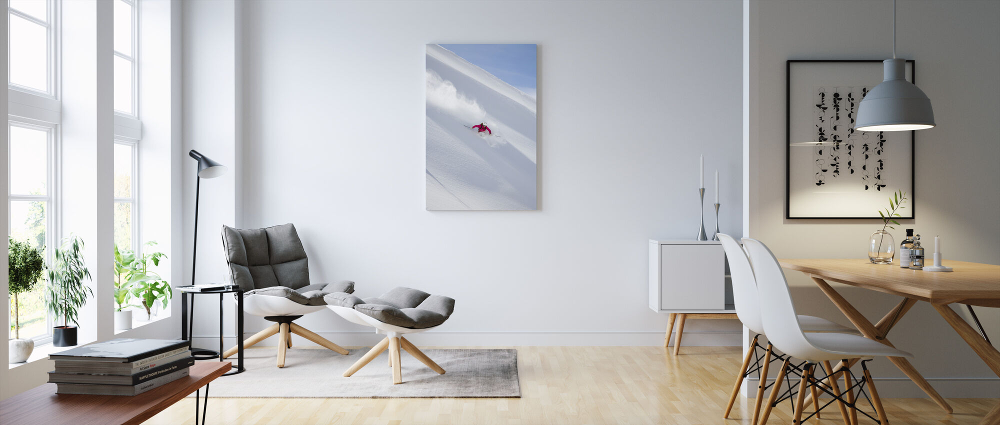Skiing in Chamonix, France - Canvas print - Living Room