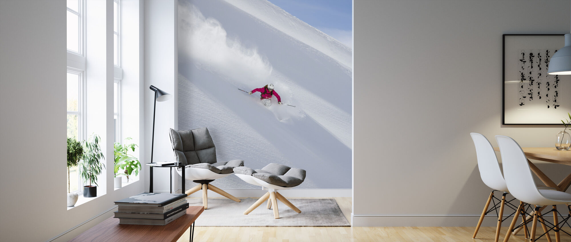 Skiing in Chamonix, France - Wallpaper - Living Room