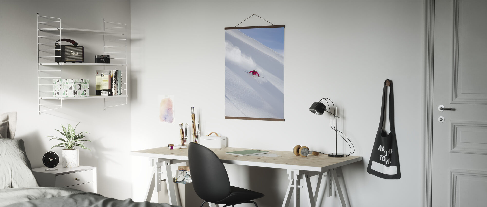 Skiing in Chamonix, France - Poster - Office