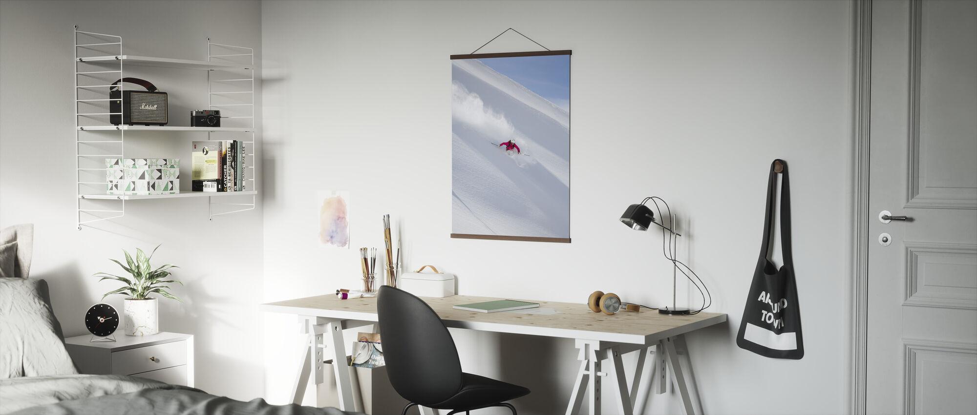 Ski i Chamonix, Frankrike - Plakat - Kontor
