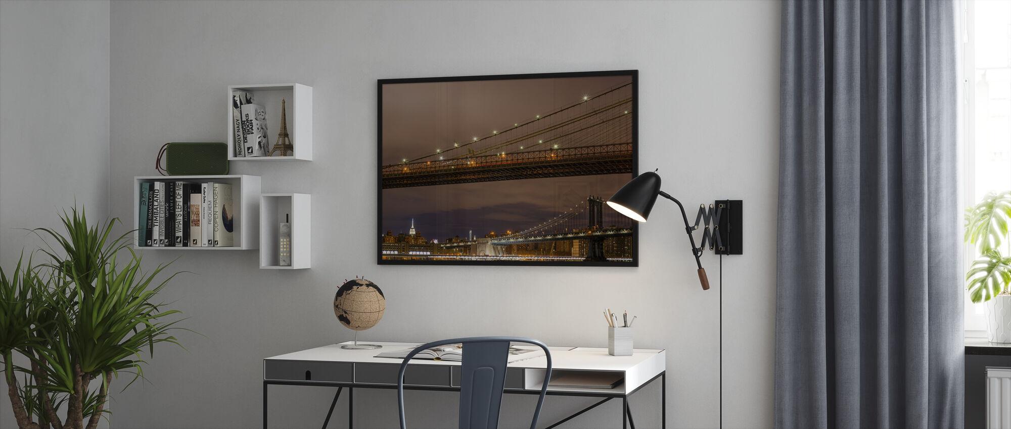 Close up of Brookyln Bridge - Framed print - Office