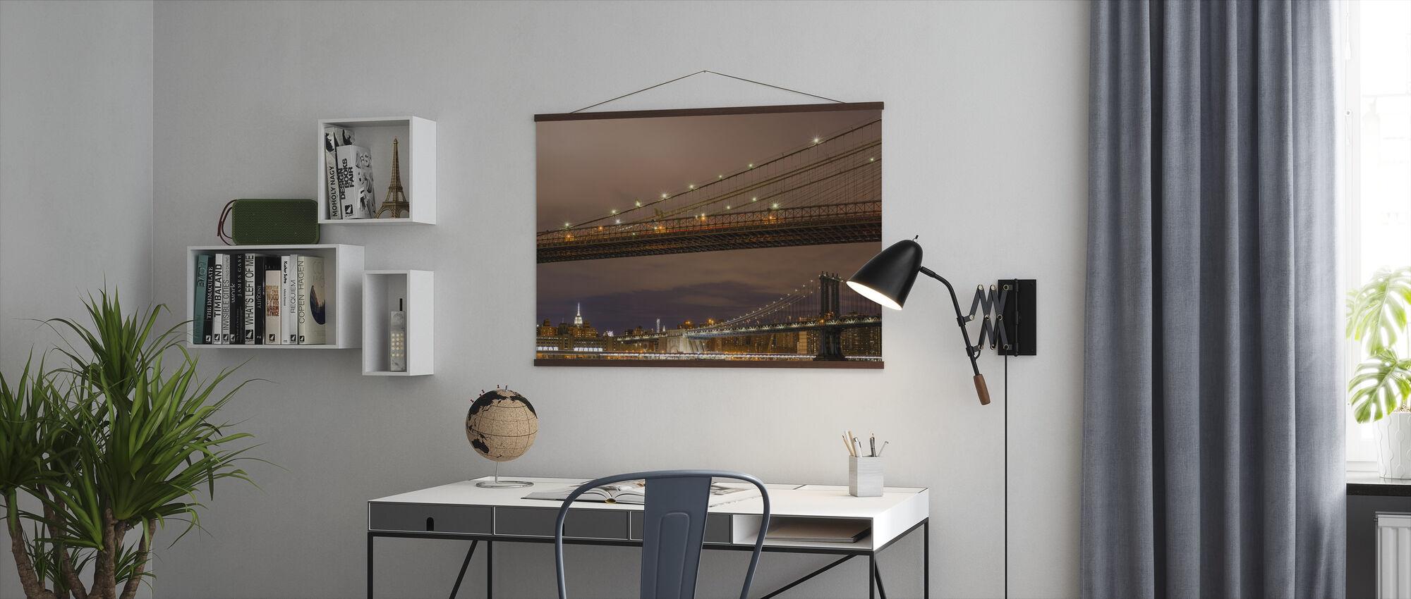 Close up of Brookyln Bridge - Poster - Office