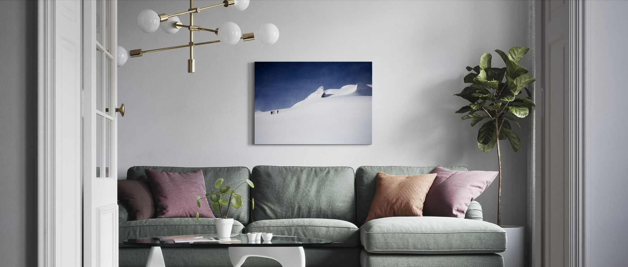 Skiers in Canada - Canvas print - Living Room