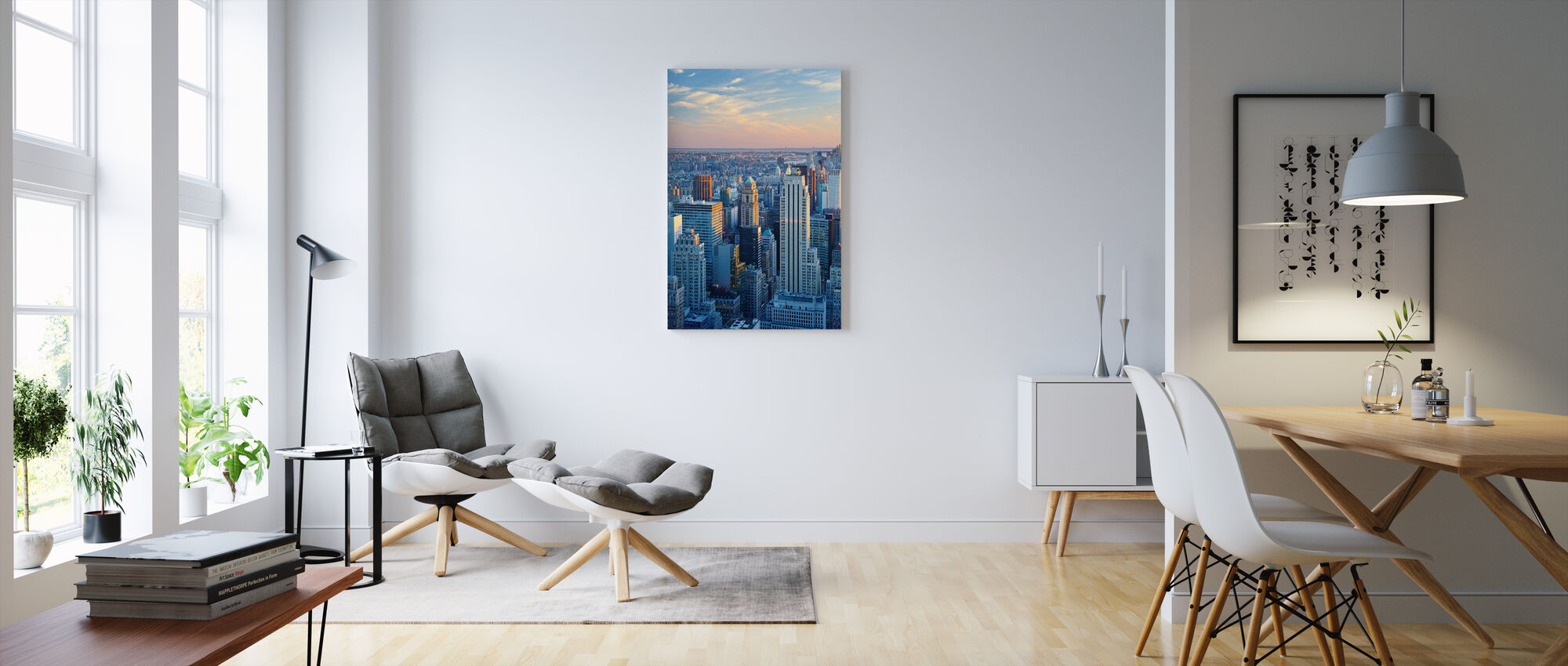 Manhattan in Blue Light - Canvas print - Living Room