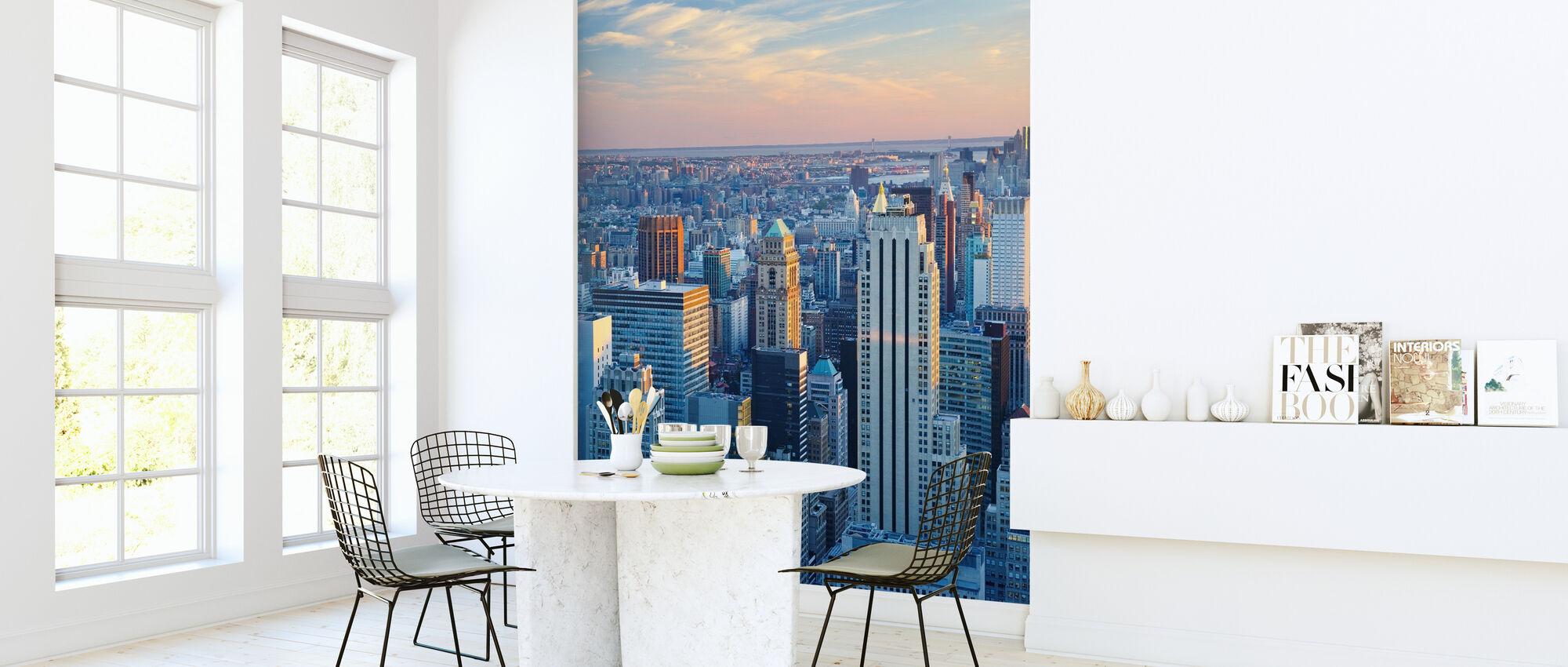 Manhattan i blått ljus - Tapet - Kök