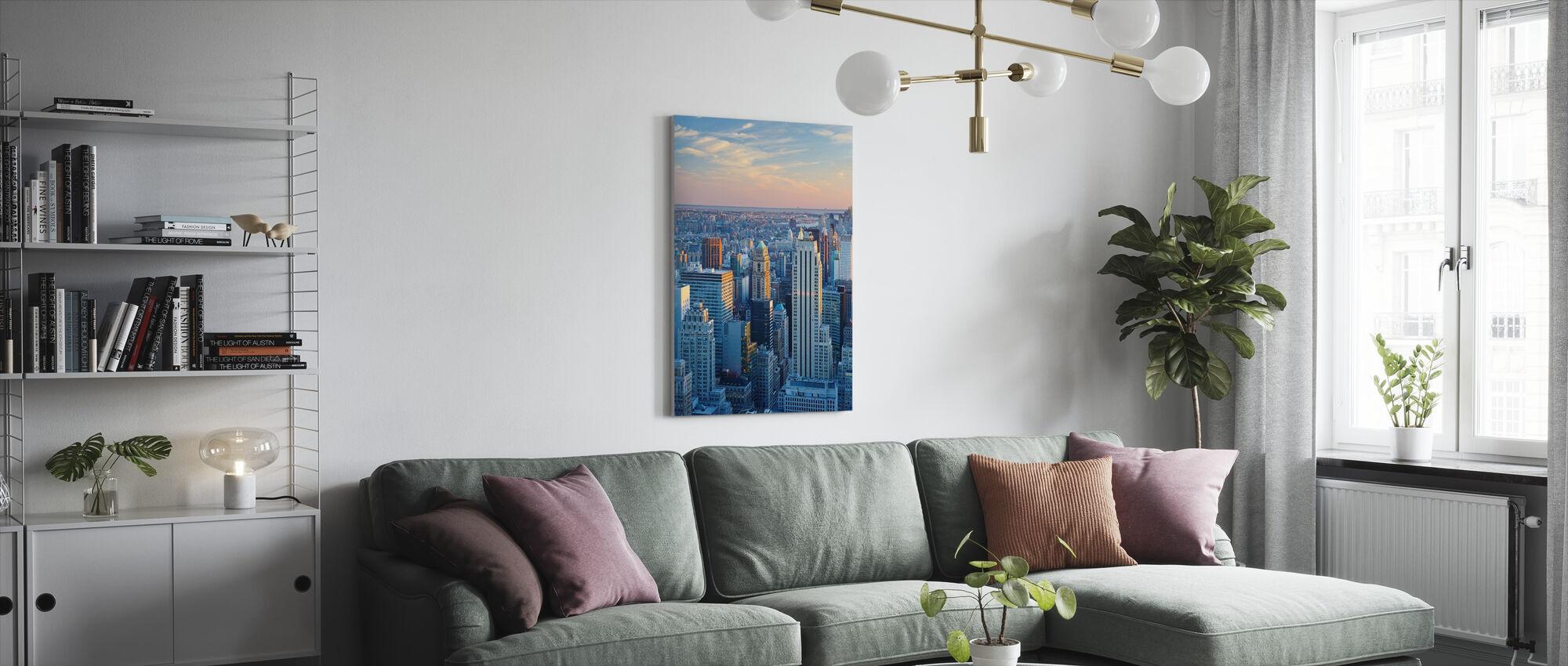 Manhattan i blått lys - Lerretsbilde - Stue