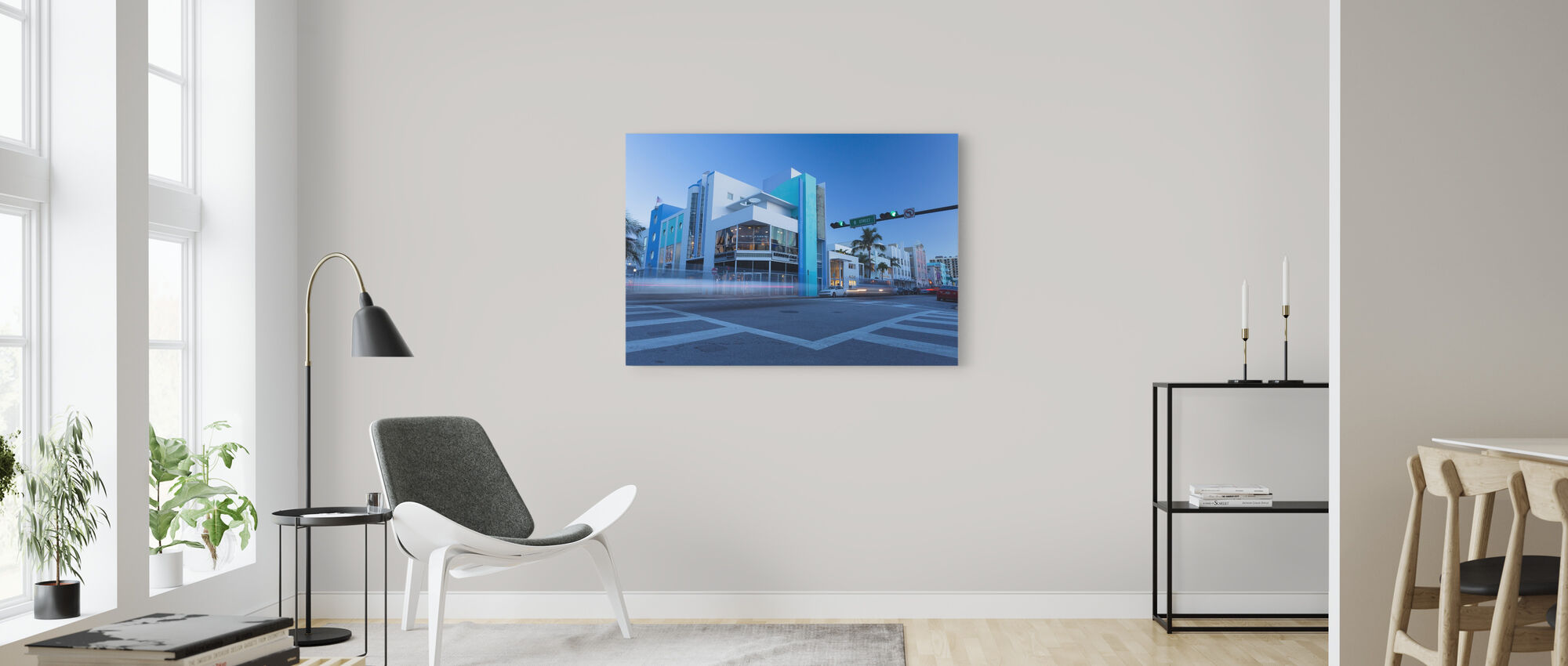 8 Street in Miami, Florida - Canvas print - Woonkamer