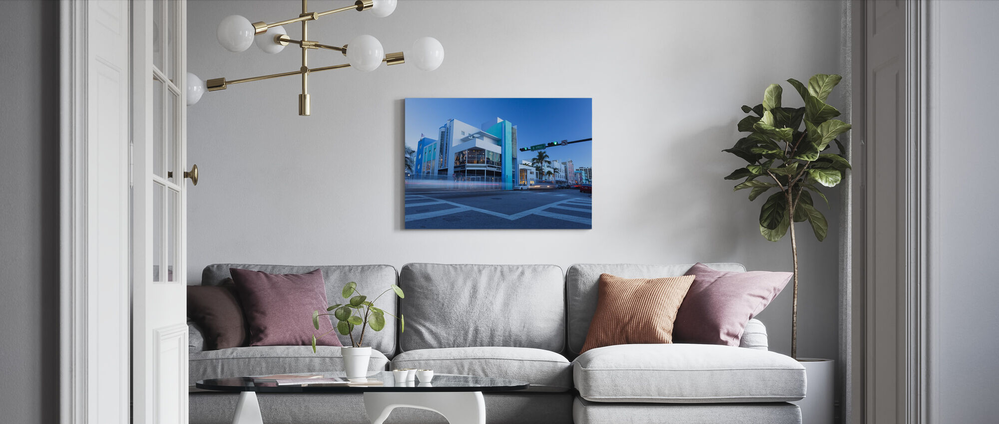 8 Street in Miami, Florida - Canvas print - Living Room