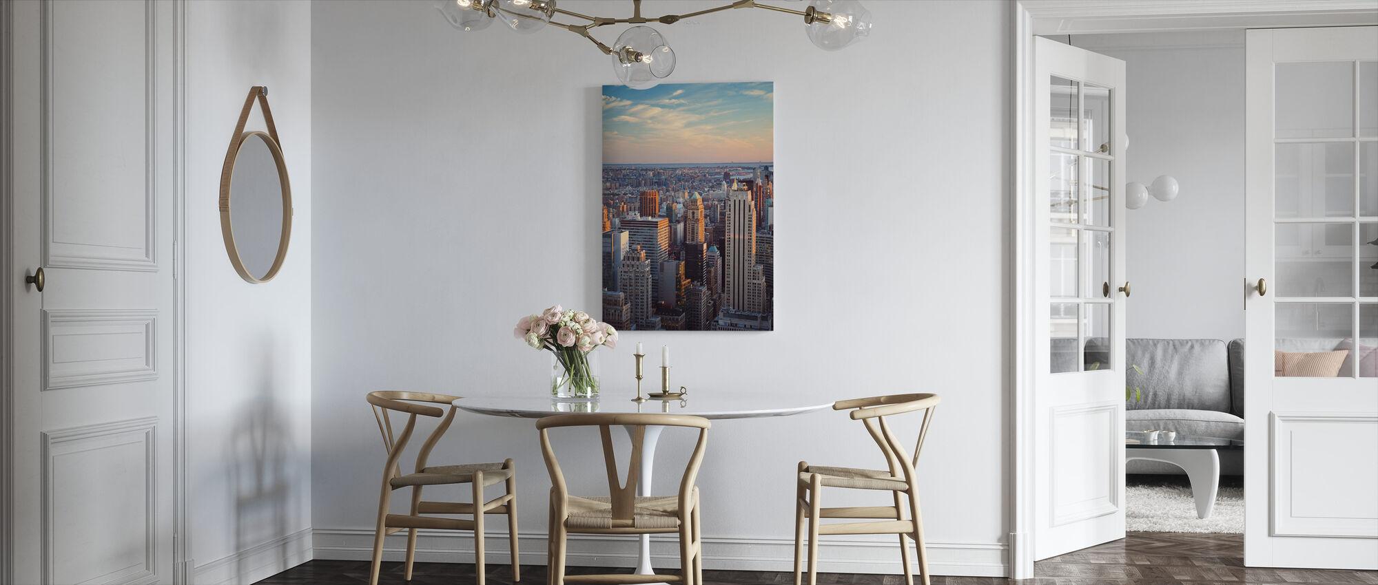 Manhattan en de Horizon - Canvas print - Keuken