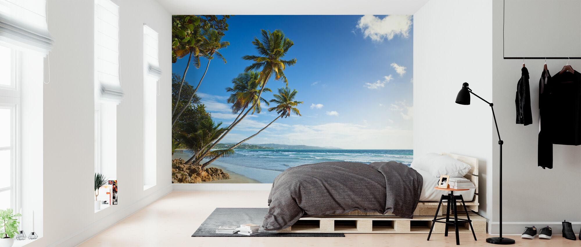 Palmen en strand, Trinidad en Tobago - Behang - Slaapkamer