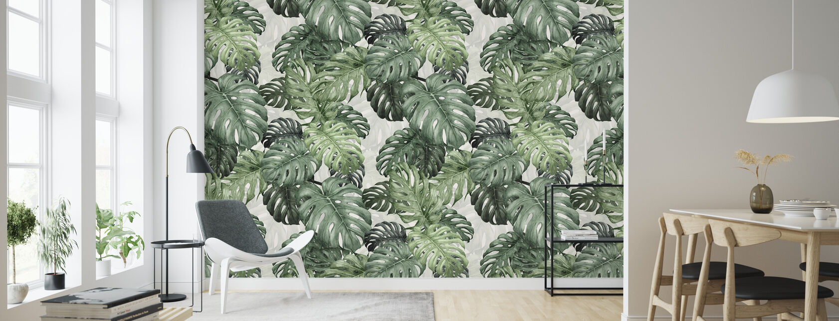 Botany Monstera - Wallpaper - Living Room