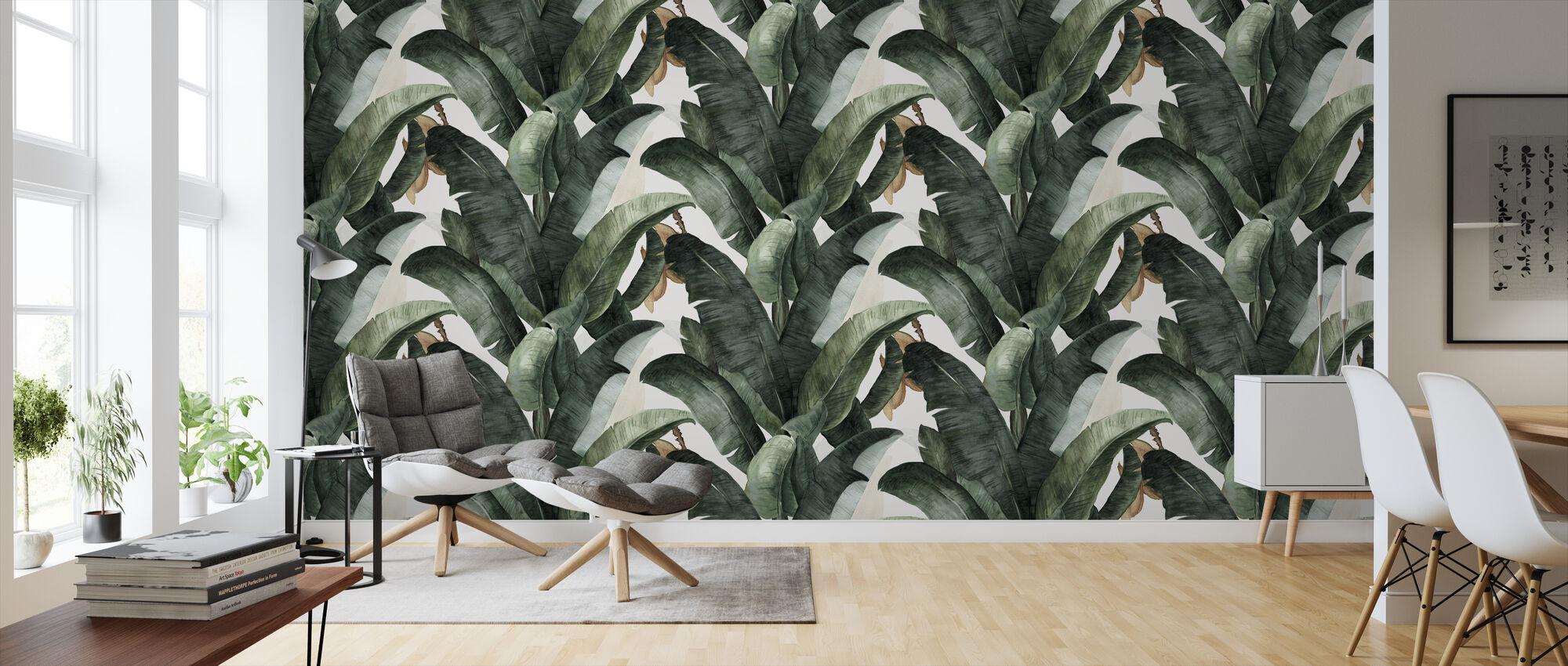 Botanik Banane - Tapete - Wohnzimmer