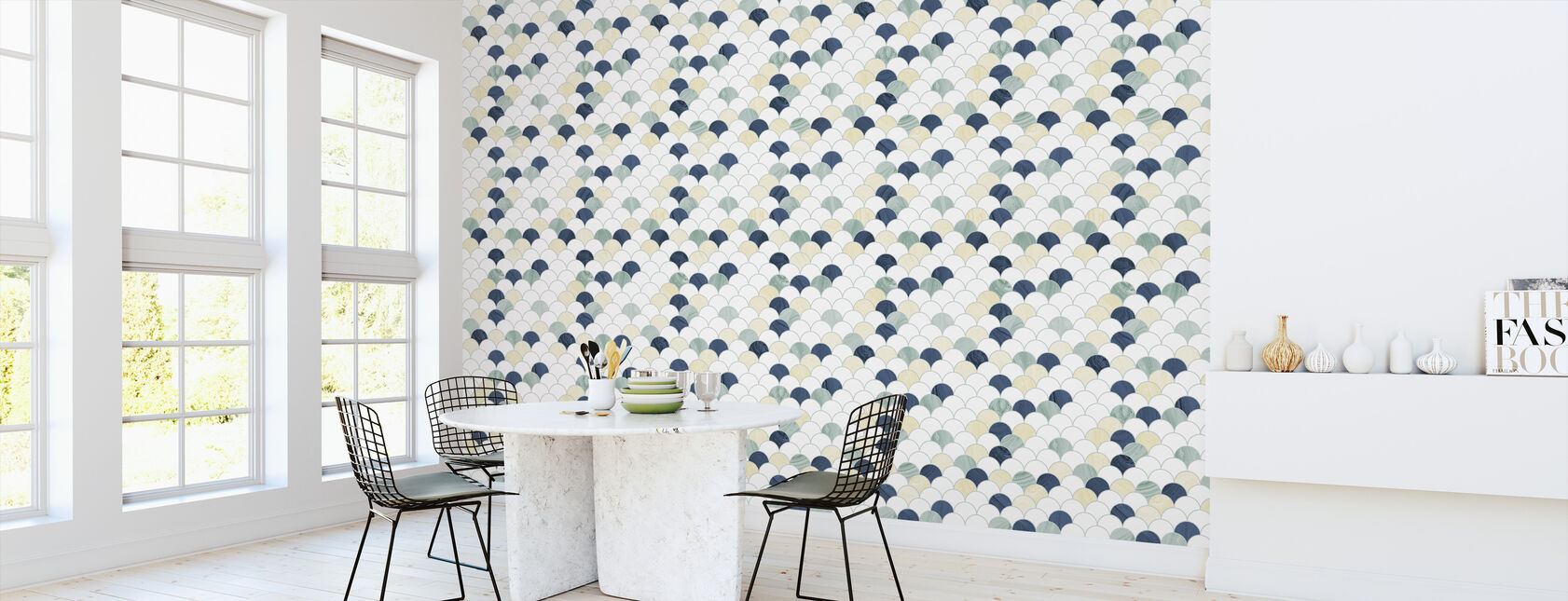 Feathers Blue - Wallpaper - Kitchen