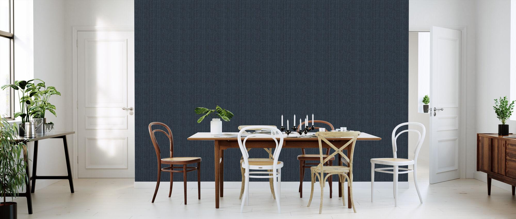 Linen Dark Blue - Wallpaper - Kitchen