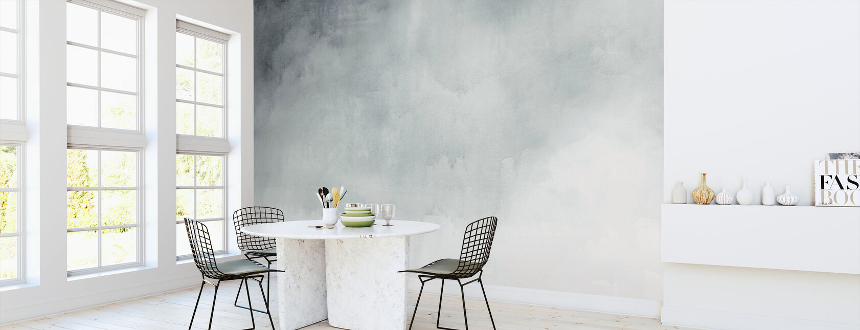 Watercolour Grey - Wallpaper - Kitchen