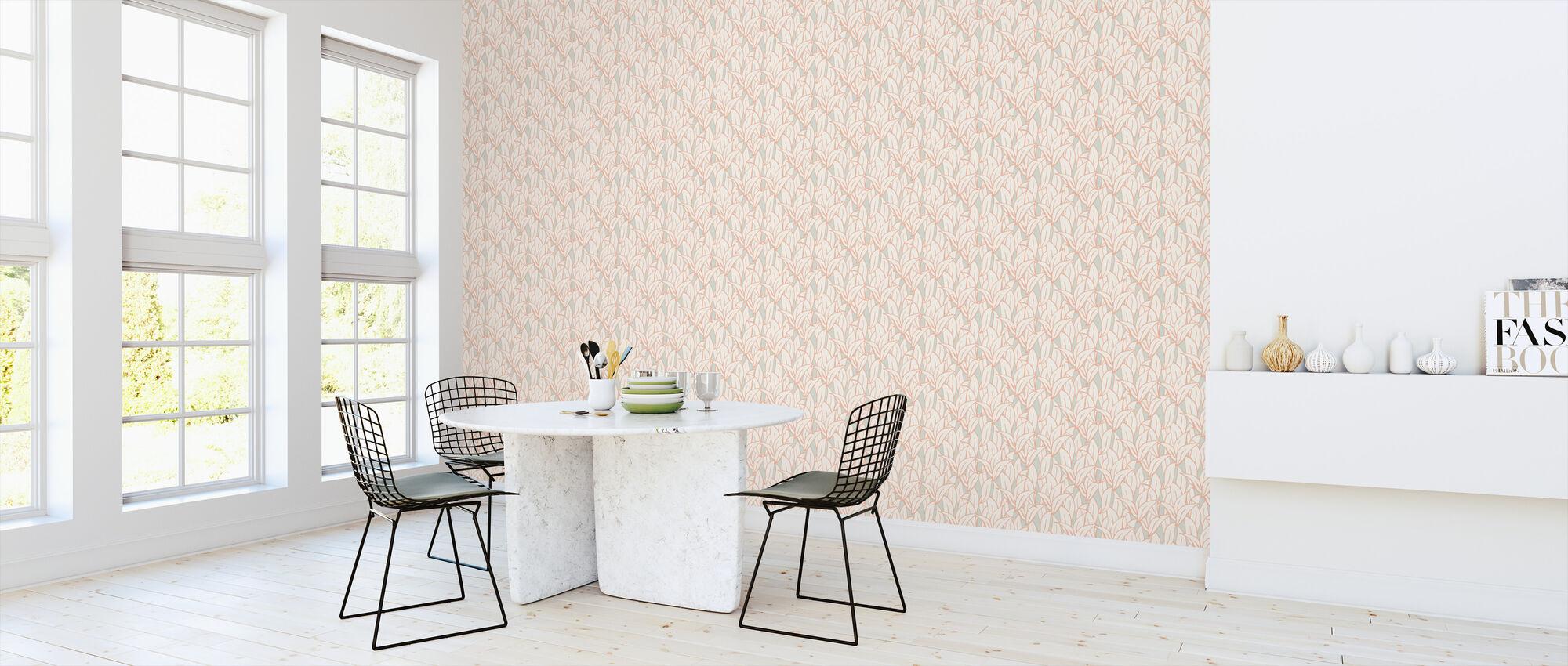Mostly Leafs Orange Dream - Wallpaper - Kitchen